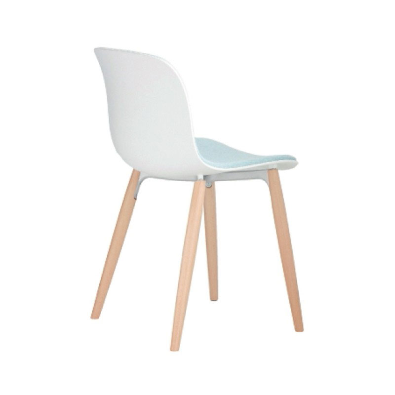 Magis Troy Front Upholstered Chair with Beech Base by Marcel Wanders Olson and Baker - Designer & Contemporary Sofas, Furniture - Olson and Baker showcases original designs from authentic, designer brands. Buy contemporary furniture, lighting, storage, sofas & chairs at Olson + Baker.