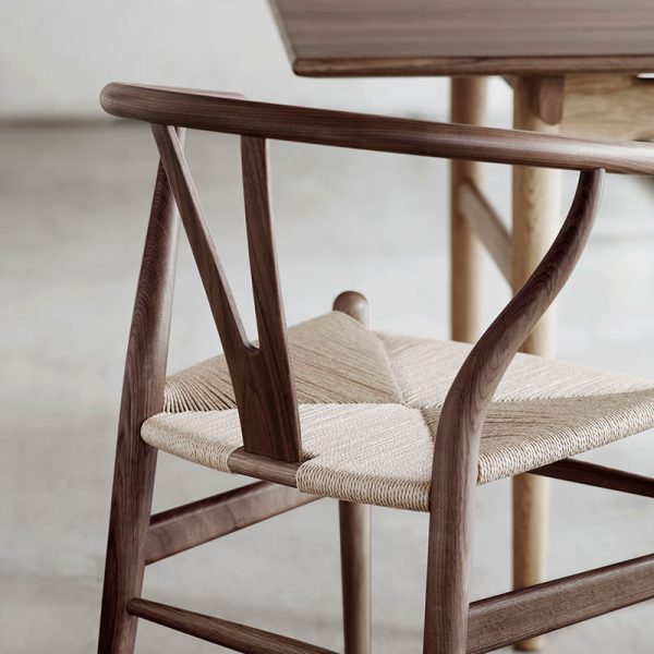 Carl-Hansen-CH24-Wishbone-Chair-by-Hans-Wegner-life-2 Olson and Baker - Designer & Contemporary Sofas, Furniture - Olson and Baker showcases original designs from authentic, designer brands. Buy contemporary furniture, lighting, storage, sofas & chairs at Olson + Baker.