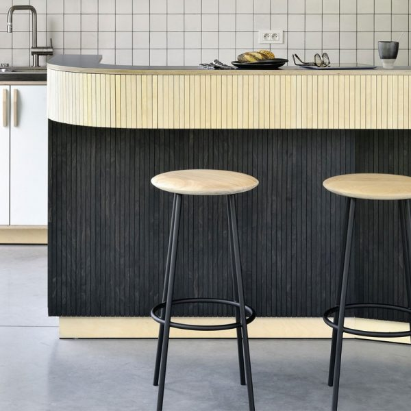 Ethnicraft-Baretto-Bar-Stool-by-Sascha-Sartory-04 Olson and Baker - Designer & Contemporary Sofas, Furniture - Olson and Baker showcases original designs from authentic, designer brands. Buy contemporary furniture, lighting, storage, sofas & chairs at Olson + Baker.