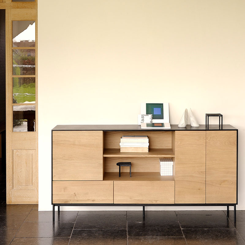 Ethnicraft Blackbird Sideboard by Alain Van Havre Olson and Baker - Designer & Contemporary Sofas, Furniture - Olson and Baker showcases original designs from authentic, designer brands. Buy contemporary furniture, lighting, storage, sofas & chairs at Olson + Baker.