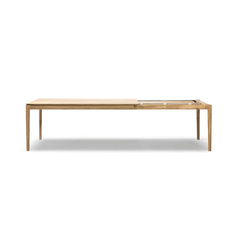 Ethnicraft Bok Extendable Dining Table by Alain Van Havre Olson and Baker - Designer & Contemporary Sofas, Furniture - Olson and Baker showcases original designs from authentic, designer brands. Buy contemporary furniture, lighting, storage, sofas & chairs at Olson + Baker.