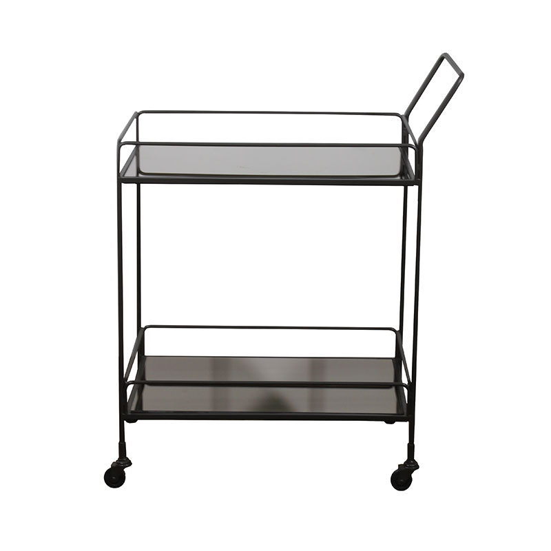 Ethnicraft Dixon Bar Cart by Dawn Sweitzer Olson and Baker - Designer & Contemporary Sofas, Furniture - Olson and Baker showcases original designs from authentic, designer brands. Buy contemporary furniture, lighting, storage, sofas & chairs at Olson + Baker.