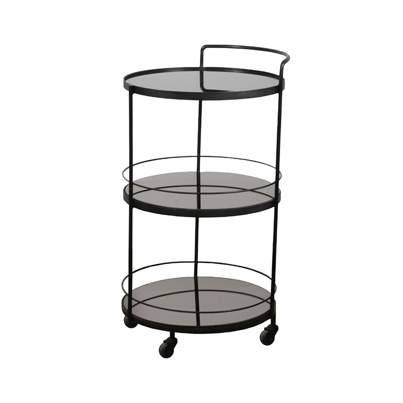 Ethnicraft Lucy Bar Cart by Dawn Sweitzer Olson and Baker - Designer & Contemporary Sofas, Furniture - Olson and Baker showcases original designs from authentic, designer brands. Buy contemporary furniture, lighting, storage, sofas & chairs at Olson + Baker.