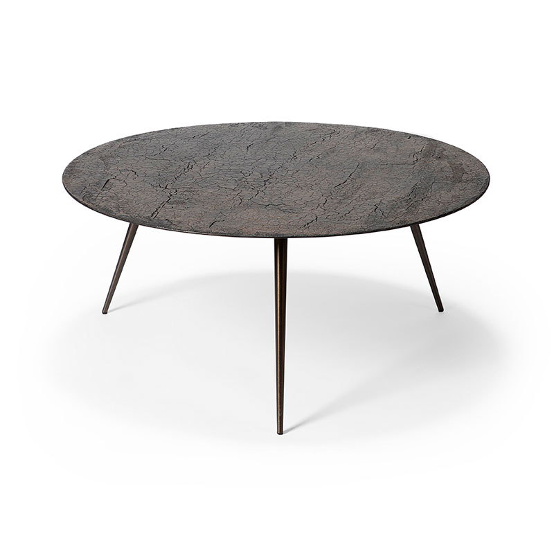 Ethnicraft Luna Ø80cm Coffee Table by Ethnicraft Design Studio Olson and Baker - Designer & Contemporary Sofas, Furniture - Olson and Baker showcases original designs from authentic, designer brands. Buy contemporary furniture, lighting, storage, sofas & chairs at Olson + Baker.
