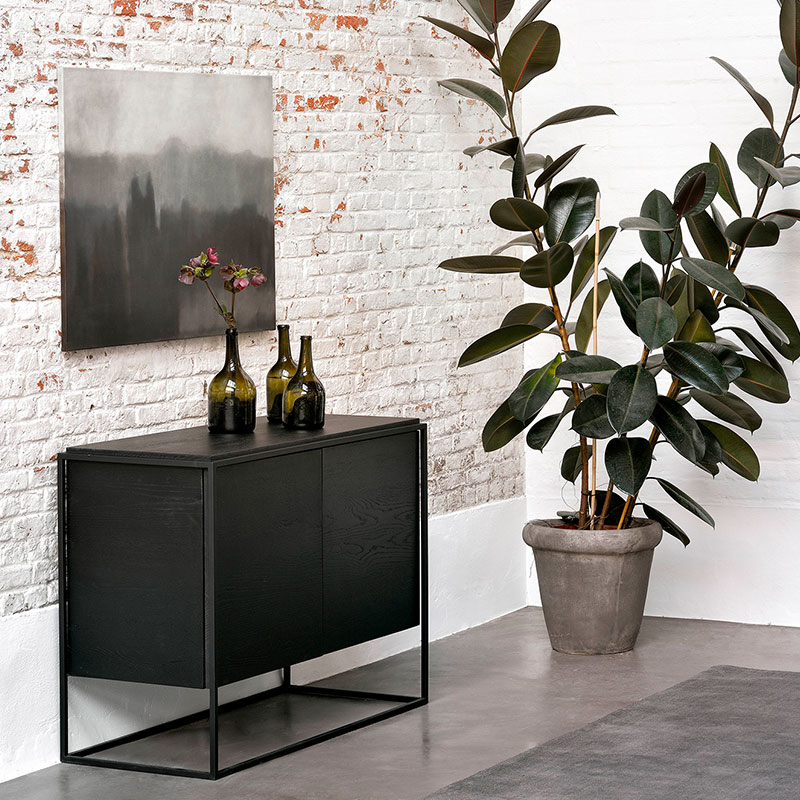 Ethnicraft_Monolit_Sideboard_Black_Oak_2 Olson and Baker - Designer & Contemporary Sofas, Furniture - Olson and Baker showcases original designs from authentic, designer brands. Buy contemporary furniture, lighting, storage, sofas & chairs at Olson + Baker.