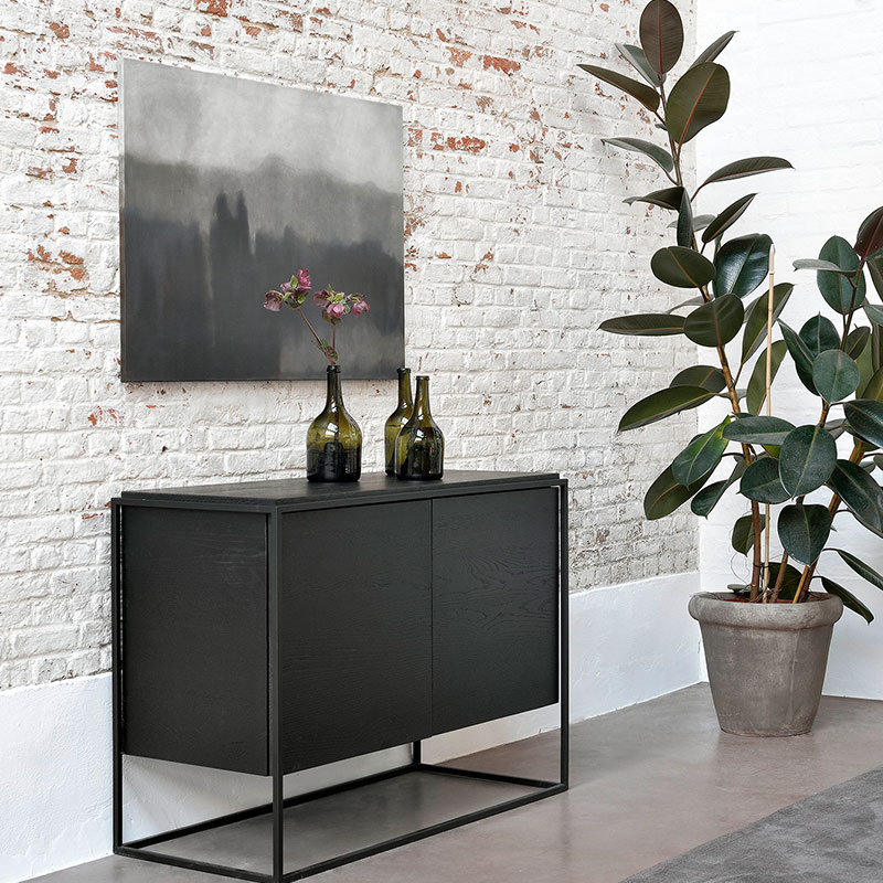 Ethnicraft_Monolit_Sideboard_Black_Oak_3 Olson and Baker - Designer & Contemporary Sofas, Furniture - Olson and Baker showcases original designs from authentic, designer brands. Buy contemporary furniture, lighting, storage, sofas & chairs at Olson + Baker.