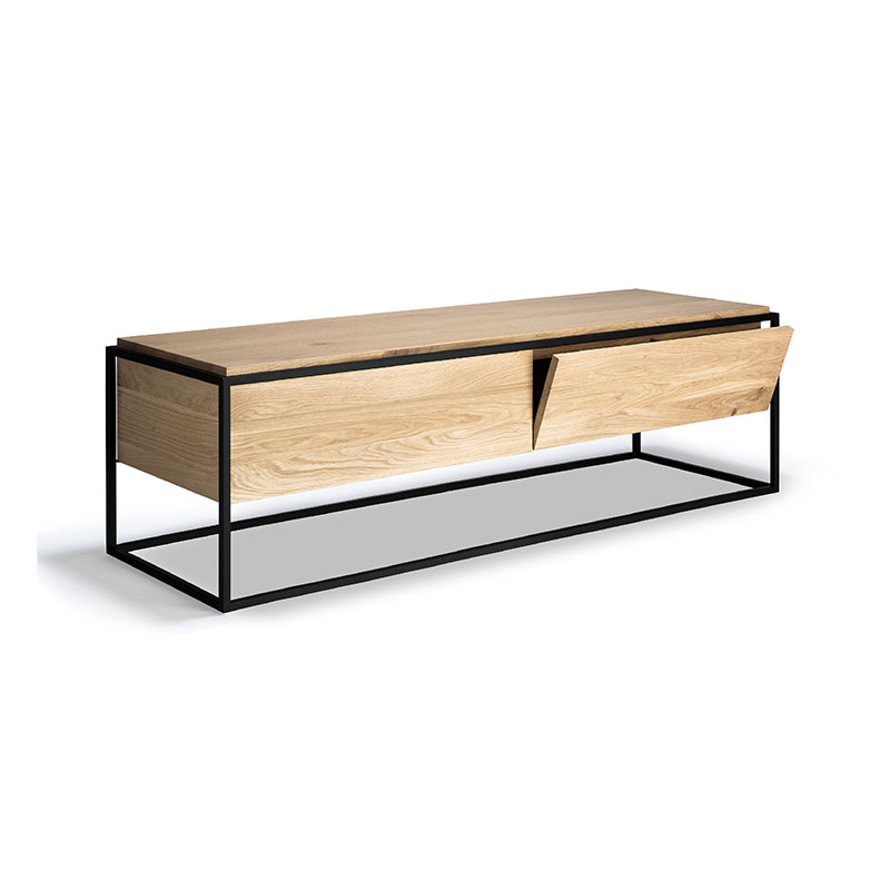 Ethnicraft Monolit TV Cupboard by Sascha Sartory Olson and Baker - Designer & Contemporary Sofas, Furniture - Olson and Baker showcases original designs from authentic, designer brands. Buy contemporary furniture, lighting, storage, sofas & chairs at Olson + Baker.