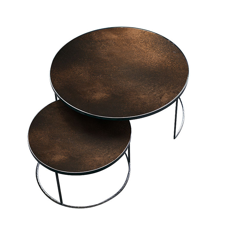Ethnicraft Nesting Coffee Table by Dawn Sweitzer Olson and Baker - Designer & Contemporary Sofas, Furniture - Olson and Baker showcases original designs from authentic, designer brands. Buy contemporary furniture, lighting, storage, sofas & chairs at Olson + Baker.