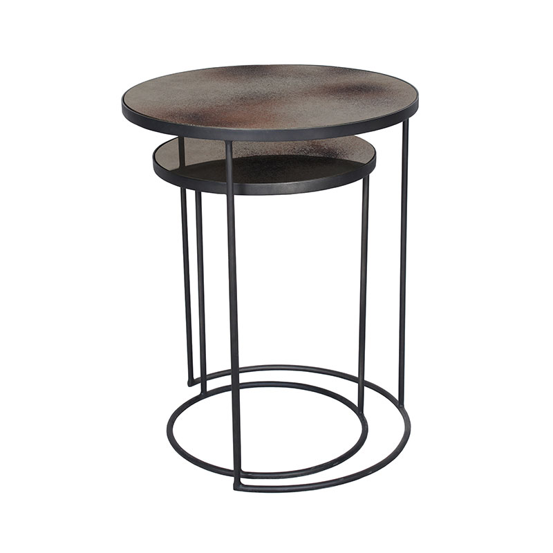 Ethnicraft Nesting Side Table Set by Dawn Sweitzer Olson and Baker - Designer & Contemporary Sofas, Furniture - Olson and Baker showcases original designs from authentic, designer brands. Buy contemporary furniture, lighting, storage, sofas & chairs at Olson + Baker.