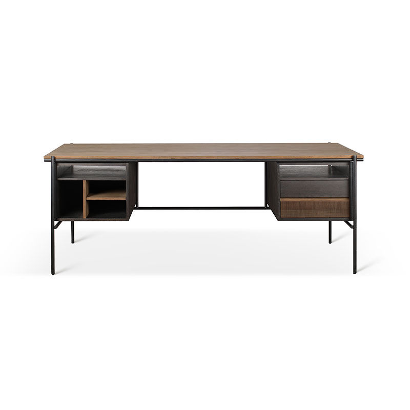 Ethnicraft Oscar Desk with Drawers by Alain Van Havre Olson and Baker - Designer & Contemporary Sofas, Furniture - Olson and Baker showcases original designs from authentic, designer brands. Buy contemporary furniture, lighting, storage, sofas & chairs at Olson + Baker.