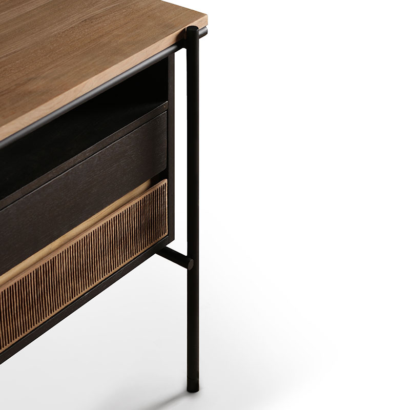 Ethnicraft_Oscar_Desk_by_Alain_Van_Havre_With_Drawers_1 Olson and Baker - Designer & Contemporary Sofas, Furniture - Olson and Baker showcases original designs from authentic, designer brands. Buy contemporary furniture, lighting, storage, sofas & chairs at Olson + Baker.