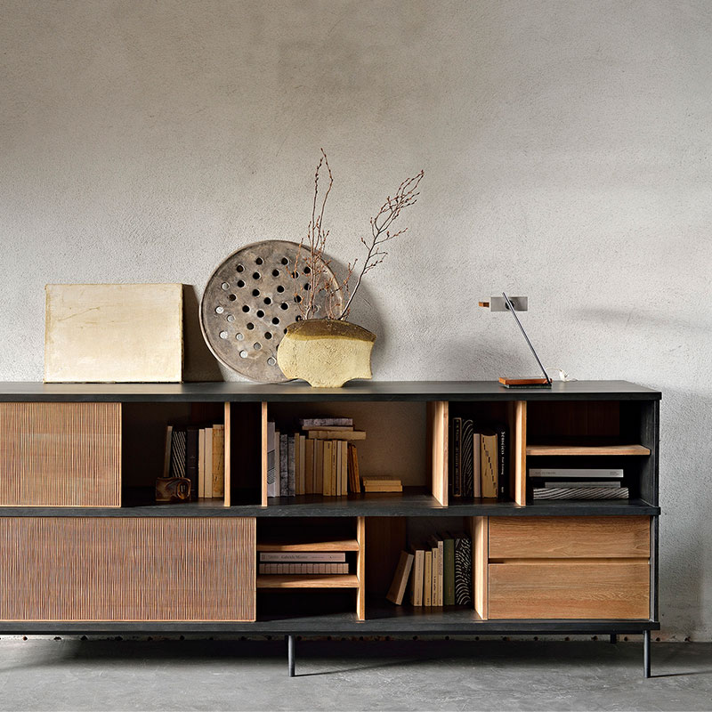 Ethnicraft_Oscar_Sideboard_by_Alain_Van_Havre_3 Olson and Baker - Designer & Contemporary Sofas, Furniture - Olson and Baker showcases original designs from authentic, designer brands. Buy contemporary furniture, lighting, storage, sofas & chairs at Olson + Baker.