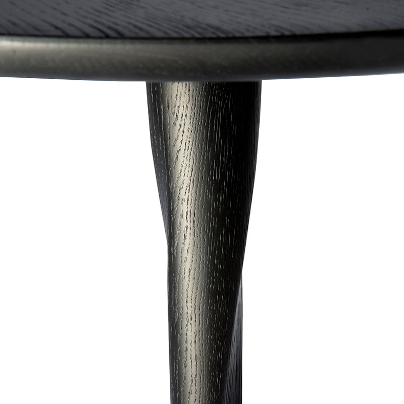 Ethnicraft_Torsion_Round_Dining_Table_Alain_Van_Havre_Black_Oak_Small_1 Olson and Baker - Designer & Contemporary Sofas, Furniture - Olson and Baker showcases original designs from authentic, designer brands. Buy contemporary furniture, lighting, storage, sofas & chairs at Olson + Baker.
