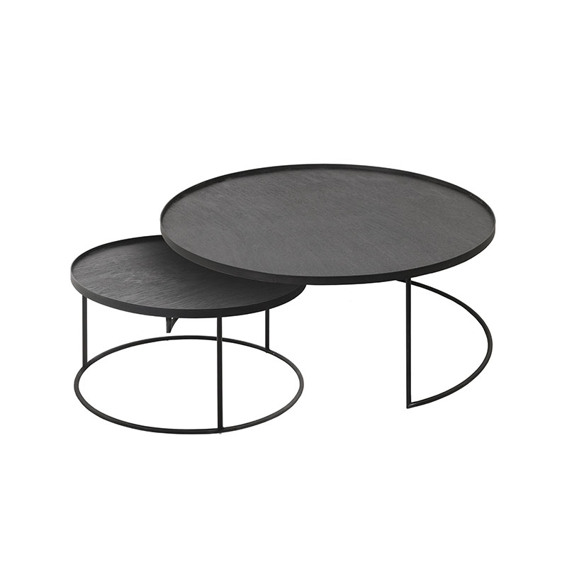 Ethnicraft Tray Round Coffee Table Set by Dawn Sweitzer Olson and Baker - Designer & Contemporary Sofas, Furniture - Olson and Baker showcases original designs from authentic, designer brands. Buy contemporary furniture, lighting, storage, sofas & chairs at Olson + Baker.