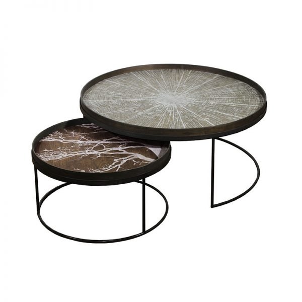 Tray Round Coffee Table Set