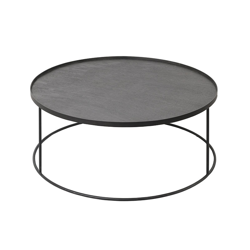 Ethnicraft Tray Round Coffee Table by Dawn Sweitzer Olson and Baker - Designer & Contemporary Sofas, Furniture - Olson and Baker showcases original designs from authentic, designer brands. Buy contemporary furniture, lighting, storage, sofas & chairs at Olson + Baker.