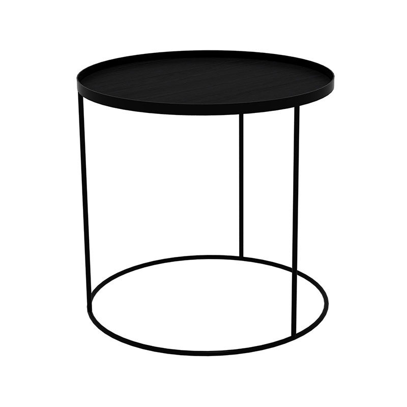 Ethnicraft Tray Round Side Table by Dawn Sweitzer Olson and Baker - Designer & Contemporary Sofas, Furniture - Olson and Baker showcases original designs from authentic, designer brands. Buy contemporary furniture, lighting, storage, sofas & chairs at Olson + Baker.