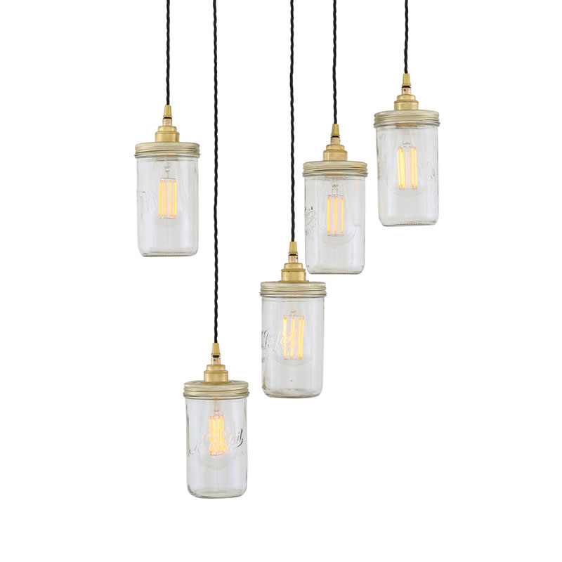 Mullan Lighting Jam Jar Cluster of Five Chandelier by Mullan Lighting Olson and Baker - Designer & Contemporary Sofas, Furniture - Olson and Baker showcases original designs from authentic, designer brands. Buy contemporary furniture, lighting, storage, sofas & chairs at Olson + Baker.