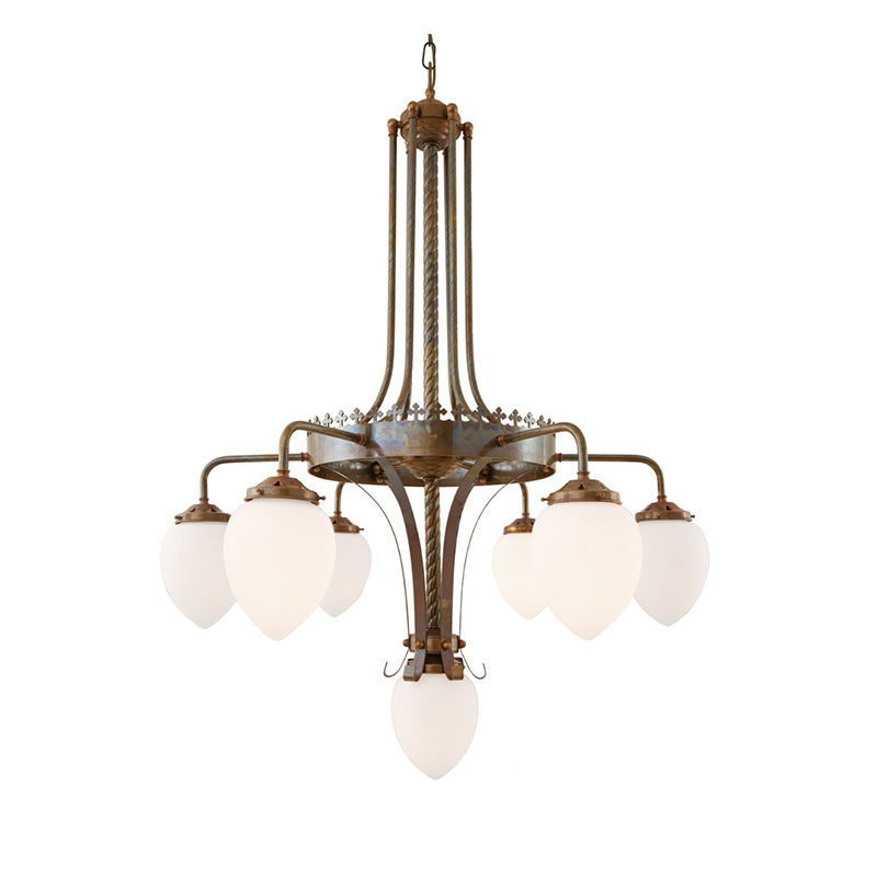Mullan Lighting Killarney Six Arm Chandelier by Mullan Lighting Olson and Baker - Designer & Contemporary Sofas, Furniture - Olson and Baker showcases original designs from authentic, designer brands. Buy contemporary furniture, lighting, storage, sofas & chairs at Olson + Baker.