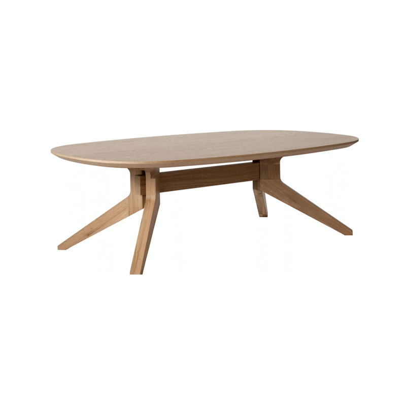 Case Furniture Cross Oval Coffee Table Oak 2 Olson and Baker - Designer & Contemporary Sofas, Furniture - Olson and Baker showcases original designs from authentic, designer brands. Buy contemporary furniture, lighting, storage, sofas & chairs at Olson + Baker.
