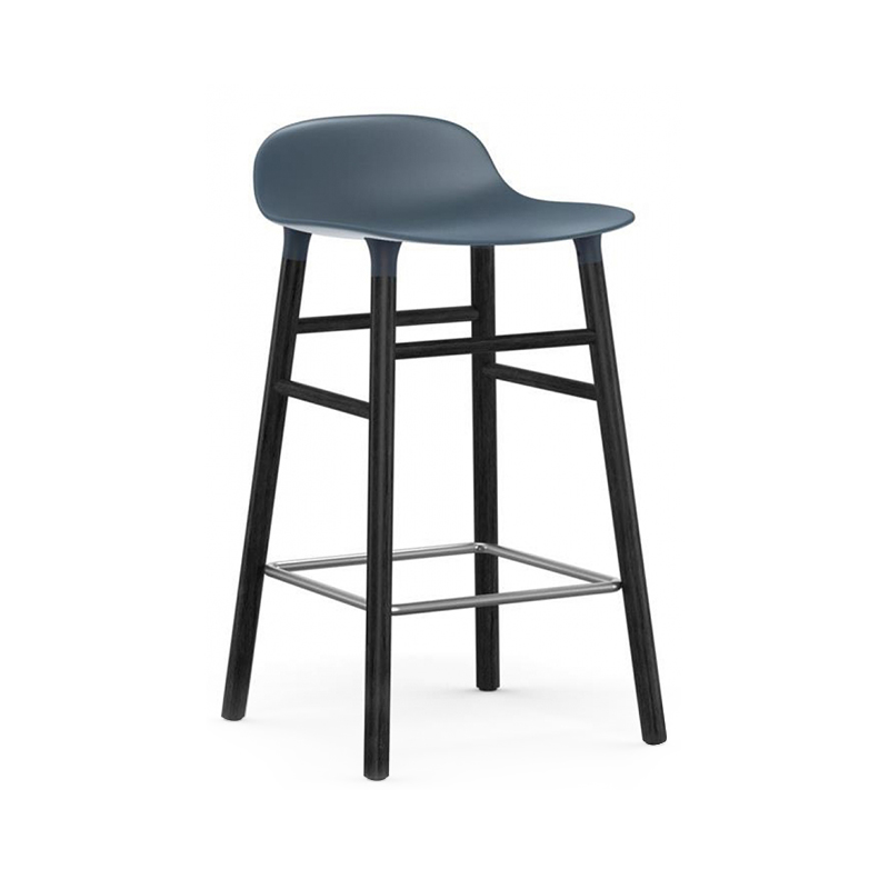 Normann Copenhagen Form Counter Stool Black and Blue Olson and Baker - Designer & Contemporary Sofas, Furniture - Olson and Baker showcases original designs from authentic, designer brands. Buy contemporary furniture, lighting, storage, sofas & chairs at Olson + Baker.