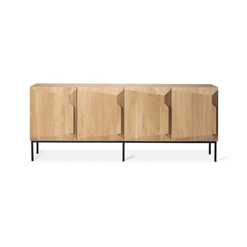Ethnicraft 200cm Stairs Sideboard by Alain van Havre in oak Olson and Baker - Designer & Contemporary Sofas, Furniture - Olson and Baker showcases original designs from authentic, designer brands. Buy contemporary furniture, lighting, storage, sofas & chairs at Olson + Baker.