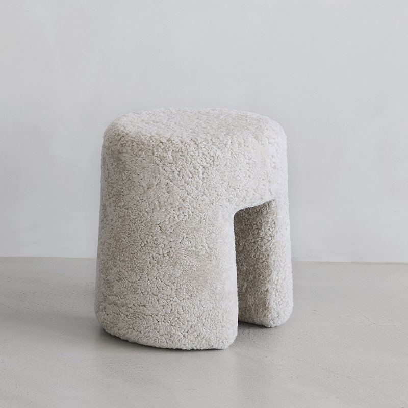 Fredericia Sequoia Pouf by Space Copenhagen Olson and Baker - Designer & Contemporary Sofas, Furniture - Olson and Baker showcases original designs from authentic, designer brands. Buy contemporary furniture, lighting, storage, sofas & chairs at Olson + Baker.