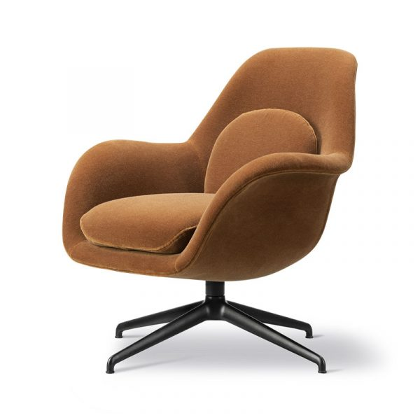 Swoon Petit Lounge Chair with Swivel Base