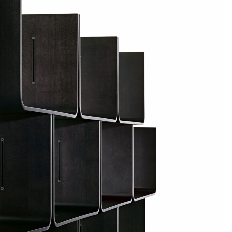 Magis_Elysee_Shelving_System_by_Pierre_Paulin_Magis_-_Stained_Black_7065_02 Olson and Baker - Designer & Contemporary Sofas, Furniture - Olson and Baker showcases original designs from authentic, designer brands. Buy contemporary furniture, lighting, storage, sofas & chairs at Olson + Baker.