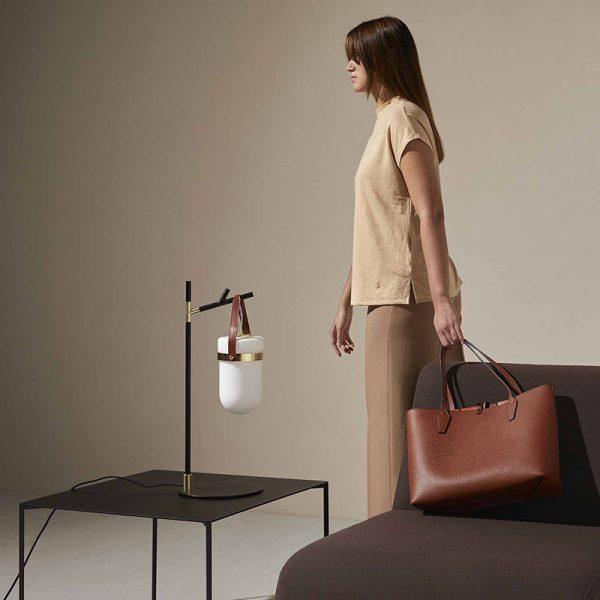 Almon Table Lamp in Matt Black