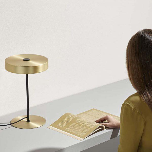Ambor Table Lamp in Matt Brass Set of Two