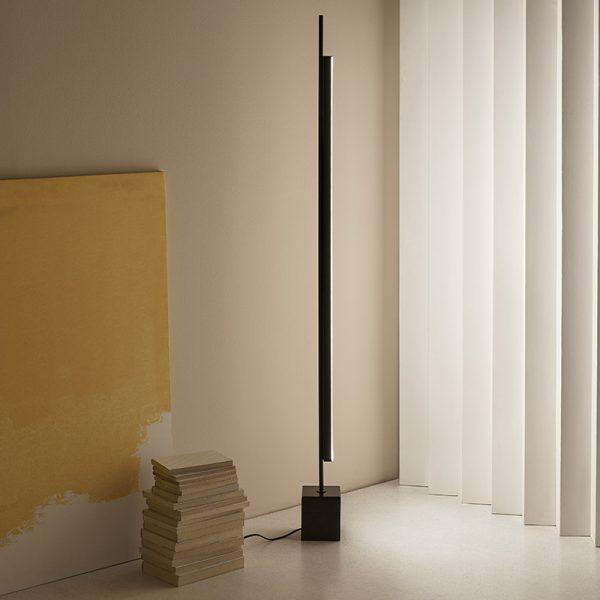 Coln Floor Lamp in Matt Black