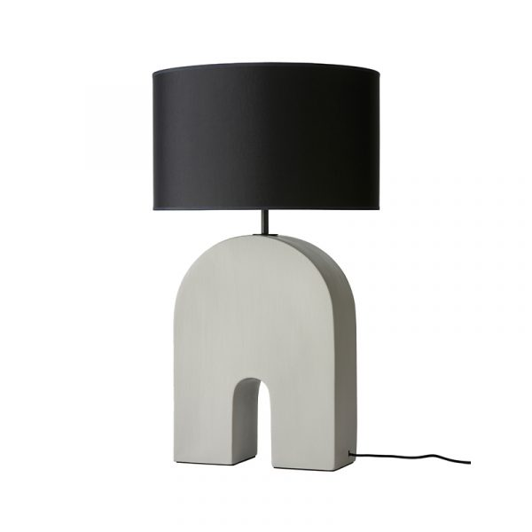 Home Table Lamp in Ash Grey Set of Two