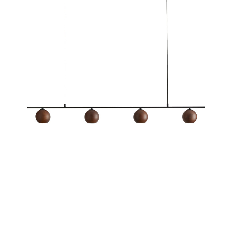 Aromas Lita Pendant Lamp in Matt Black and Walnut by Pepe Fornas Olson and Baker - Designer & Contemporary Sofas, Furniture - Olson and Baker showcases original designs from authentic, designer brands. Buy contemporary furniture, lighting, storage, sofas & chairs at Olson + Baker.
