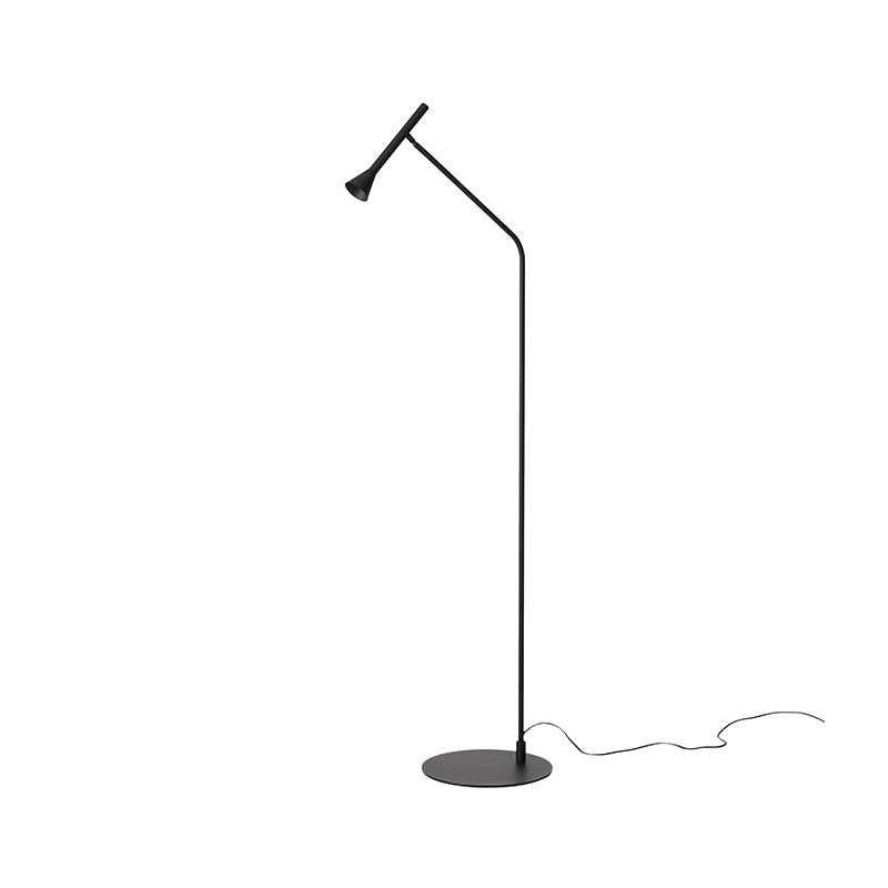 Aromas Lyb Floor Lamp in Matt Black by Pepe Fornas Olson and Baker - Designer & Contemporary Sofas, Furniture - Olson and Baker showcases original designs from authentic, designer brands. Buy contemporary furniture, lighting, storage, sofas & chairs at Olson + Baker.