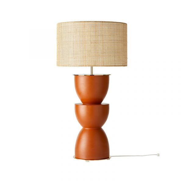 Metric Table Lamp in Tile Set of Two