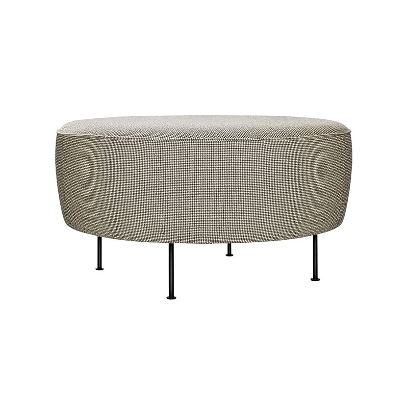 Gubi Modern Line Pouf Ø38cm by Greta M. Grossman Olson and Baker - Designer & Contemporary Sofas, Furniture - Olson and Baker showcases original designs from authentic, designer brands. Buy contemporary furniture, lighting, storage, sofas & chairs at Olson + Baker.