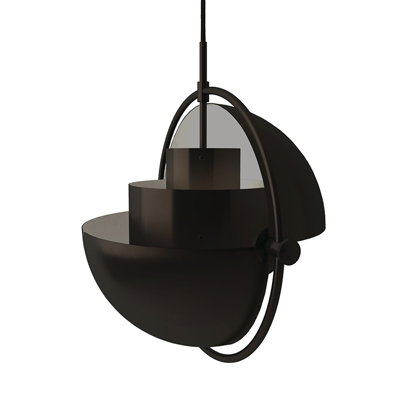 Gubi Multi-Lite Ø25.5cm Pendant Light in Black Brass by Louis Weisdorf Olson and Baker - Designer & Contemporary Sofas, Furniture - Olson and Baker showcases original designs from authentic, designer brands. Buy contemporary furniture, lighting, storage, sofas & chairs at Olson + Baker.
