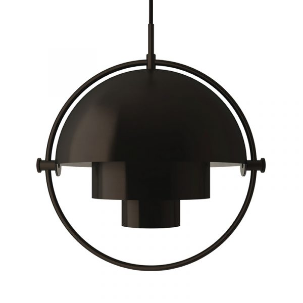Multi-Lite Ø25.5cm Pendant Light in Black Brass