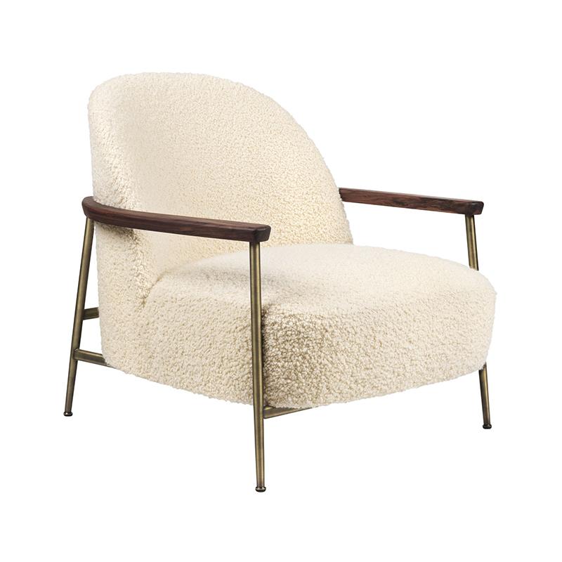 Gubi Sejour Lounge Chair with Armrest by GamFratesi Olson and Baker - Designer & Contemporary Sofas, Furniture - Olson and Baker showcases original designs from authentic, designer brands. Buy contemporary furniture, lighting, storage, sofas & chairs at Olson + Baker.