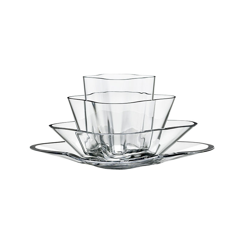 Iittala Aalto 180x360mm Four-Part Flower Vase by Alvar Aalto Olson and Baker - Designer & Contemporary Sofas, Furniture - Olson and Baker showcases original designs from authentic, designer brands. Buy contemporary furniture, lighting, storage, sofas & chairs at Olson + Baker.