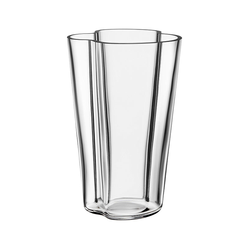 Iittala Aalto 220mm Glass Vase by Alvar Aalto Olson and Baker - Designer & Contemporary Sofas, Furniture - Olson and Baker showcases original designs from authentic, designer brands. Buy contemporary furniture, lighting, storage, sofas & chairs at Olson + Baker.
