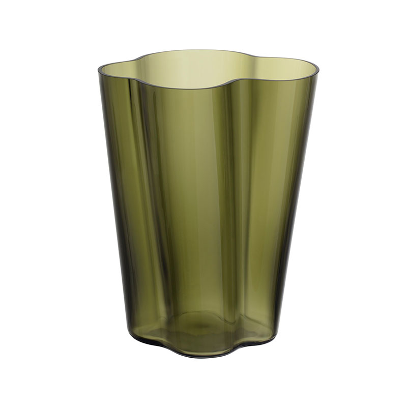 Iittala Aalto 270mm Glass Vase by Alvar Aalto Olson and Baker - Designer & Contemporary Sofas, Furniture - Olson and Baker showcases original designs from authentic, designer brands. Buy contemporary furniture, lighting, storage, sofas & chairs at Olson + Baker.