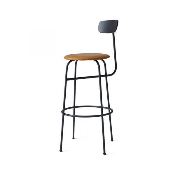 Afteroom Bar Stool with Upholstered Seat