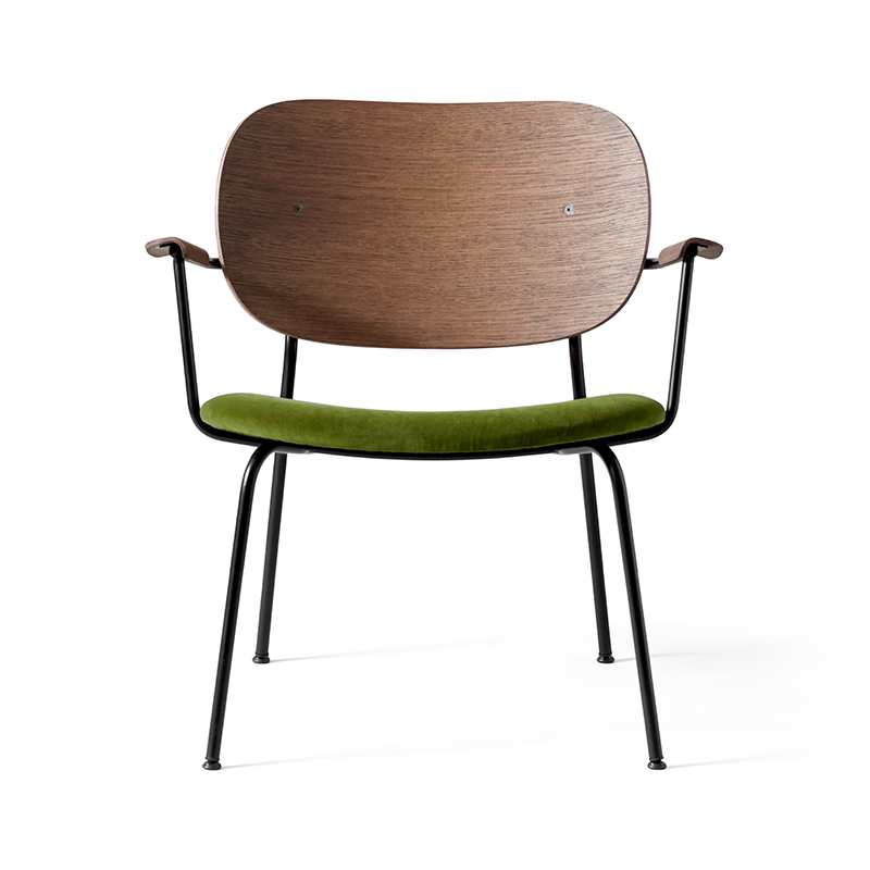 Menu Co Lounge Chair with Upholstered Seat by Norm Architects Olson and Baker - Designer & Contemporary Sofas, Furniture - Olson and Baker showcases original designs from authentic, designer brands. Buy contemporary furniture, lighting, storage, sofas & chairs at Olson + Baker.