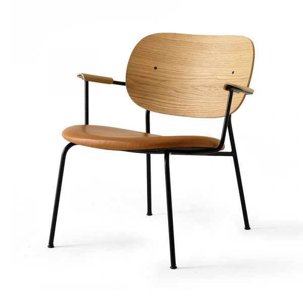 Co Lounge Chair with Upholstered Seat