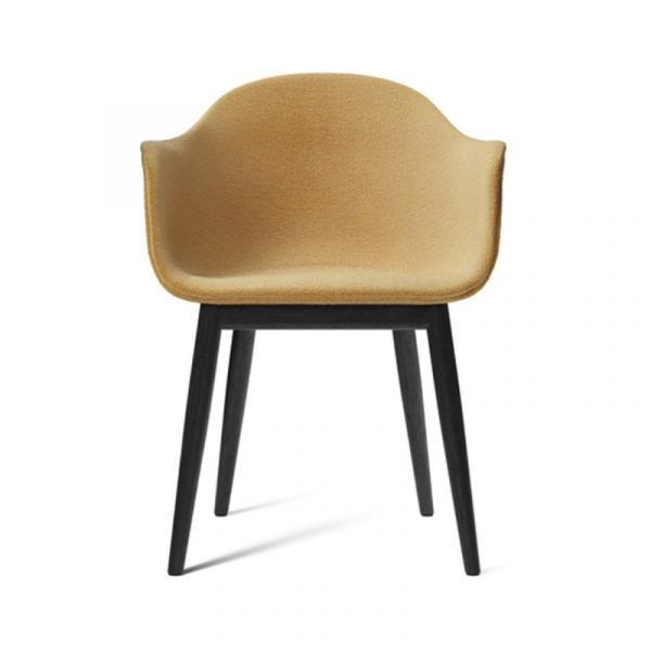 Harbour Fully Upholstered Dining Chair with Wooden Base