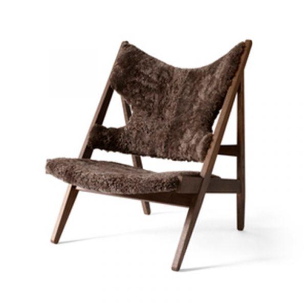 Knitting Lounge Chair in Sheepskin