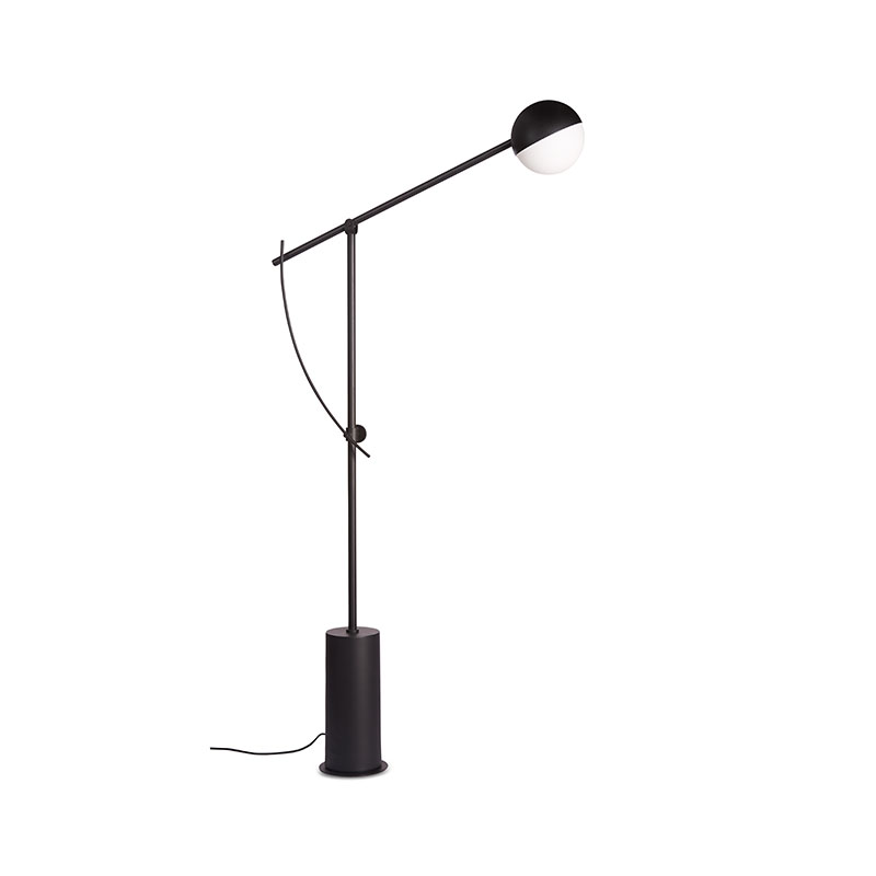 Northern Balancer Floor Lamp in Black by Yuue Olson and Baker - Designer & Contemporary Sofas, Furniture - Olson and Baker showcases original designs from authentic, designer brands. Buy contemporary furniture, lighting, storage, sofas & chairs at Olson + Baker.