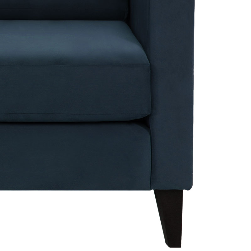 Olson-and-Baker-Franklin-Sofa-Warwick-Plush-Velvet-Navy-Lifeshot-001 Olson and Baker - Designer & Contemporary Sofas, Furniture - Olson and Baker showcases original designs from authentic, designer brands. Buy contemporary furniture, lighting, storage, sofas & chairs at Olson + Baker.